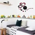 Hear shape (acrylic Wall clock)