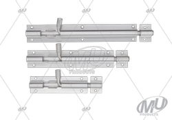 Aluminium Doors 9mm One Pieces Tower Bolt, For Door Fitting, Finish Type: Chrome
