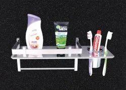 Stainless Steel Silver Toothbrush Holder, For Bathroom Fittings