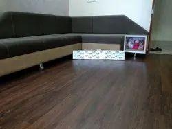 Rectangular Dark Brown PVC Carpet