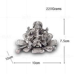 Silver Plated Kamal Ganesh