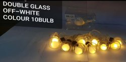 Double Glass Off-White Colour Bulb