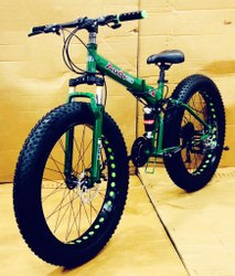 Green Audi Fat Foldable Cycle