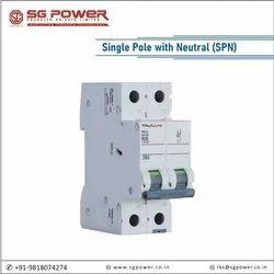 MCB Single Pole with Neutral (SPN)