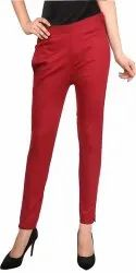 Maroon &15 Colour Available Women Woman Cotton Casual Pant