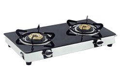 GLASS GAS CHULA TWO BURNER