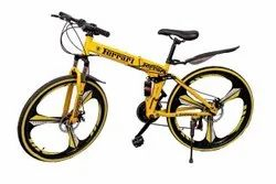 Yellow Ferrari Foldable Cycle