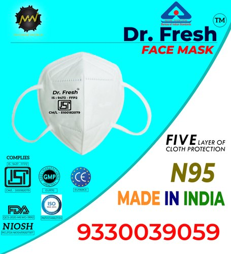 Dr. Fresh N95 KN95 FFP2 Respirator Mask, Number of Layers: 5 Layers