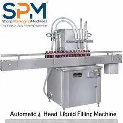Automatic 4 Head Liquid Filling Machine