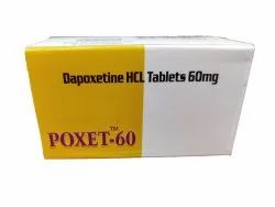 Dapoxetine Hcl Tablets 60 Mg Poxet 60 Mg