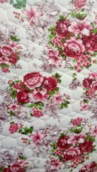 For Textile Flower Print Satin Cotton Mattress Fabric