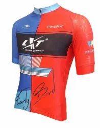 Cycling jerseys in spandex Italian Lycra