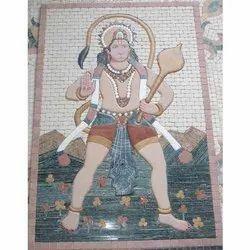 Hanuman Gemstone Painting