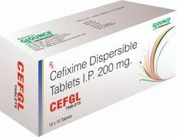 Cefixime Dispersible Tablet I.P 200 Mg