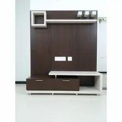 Brown Pvc Designer TV Unit, For Home