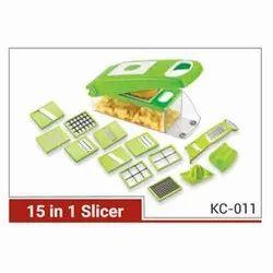 Kitchen 15 in 1 KC-011 Plastic Slicer, For Slicing