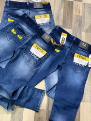 Plain Slim Fit Fendi Mens Denim Jeans, Waist Size: 28 -34