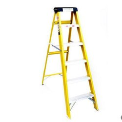 Green Youngman 4 Step FRP Safety Ladders for Industry