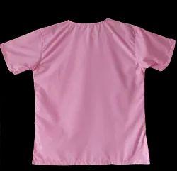 Ladies Pink Round Neck Cotton Top