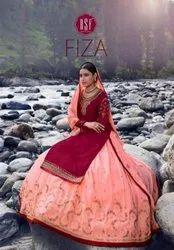 RSF Fiza Satin Georgette With Silk Long Ghaghra Designer Salwar Suit Catalog