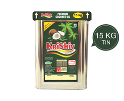 Wooden Cold Pressed Krishiv 15 Kg Coconut Oil Tin, For Cooking,Cosmetics
