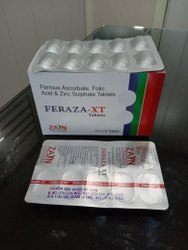 Ferrous Ascorbate100mg, Folic Acid 1.5mg &zinc Sulphate 7.5 Mg Tab