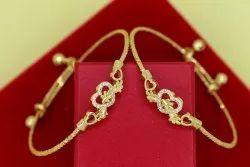 American Diamond Cuff Bangles Bracelets Set For Women & Girls (Adjustable)