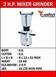 Keshvi Stainless Steel Mixer Grinder, Capacity(Litre): 10 Liter