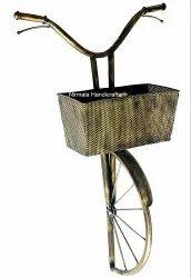 Iron craft Bicycle Letter Box Holder Antique Decorative Showpiece
