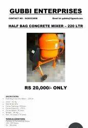 half bag concrete mixer 220 Lit