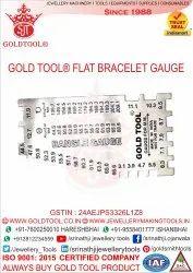Gold Tool Flat Bracelet / Bangle Gauge