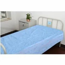 Blue Disposable Hospital Bed Sheet And Pillow Cover