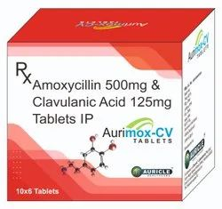 AMOXYCILLIN 500 MG WITH CLAVULANIC ACID 650 MG TABLETS(AURIMOX-CV 650)