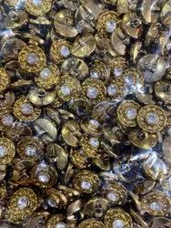 Golden Plastic 28 Diamond Button, For Garments, Packaging Type: Packet