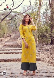 Rayon Party Wear,Casuals Painted Ladies Kurtis, Wash Care: Machine wash