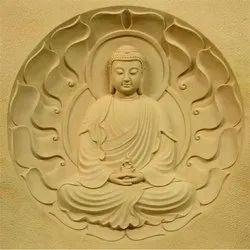 Buddha Stone Mural
