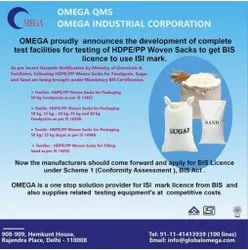 BIS Certificate Consultants Services for HDPE/PP Woven Sacks