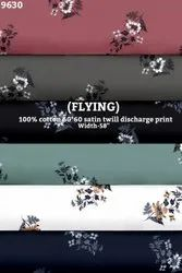 Flying 100% Cotton Satin Twill Discharge Print