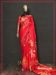 Fancy Floral Print Indian Wear Saree