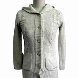 Full Sleeves Ladies Woolen Sweater, Size: Free Size
