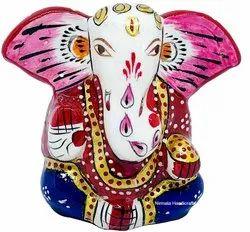 Nirmala Handicrafts Exporters Metal Kan Ganesha Statue Handmade Enamel Work God Idol
