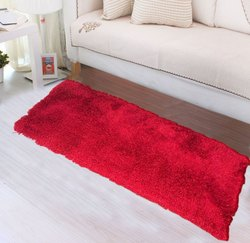 Red Fluffy Non Skid Shaggy Rug Bedside Runner Carpet For Living Room Bedroom At Rs 499 Piece Shag Rug Id 22773827948