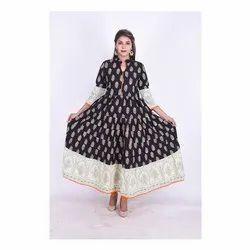 Ladies Ethnic Anarkali Cotton Kurti