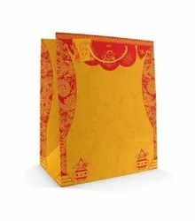 Wedding Special Gloss Yellow And Red On White Paper Bag