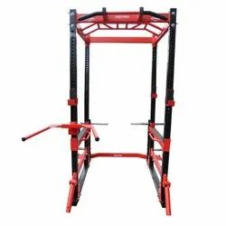 Roxan Power Cage With Pull Up Bar, Landmine, Dip Bar