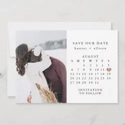 Save the Dates Cards With Shape Cutting