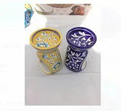 Blue Pottery Oil Diffuser, For Interior Decor