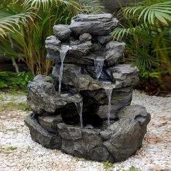 glyptic arts Black FRP Decorative Fountain, For Decoration