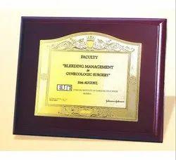 FP 10753 Golden Certificate Memento