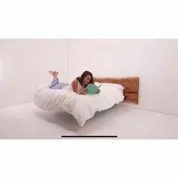 Modern Brown Wooden Floating Bed